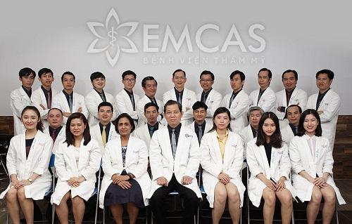 Các bác sĩ tại bệnh viện thẩm mỹ Emcas